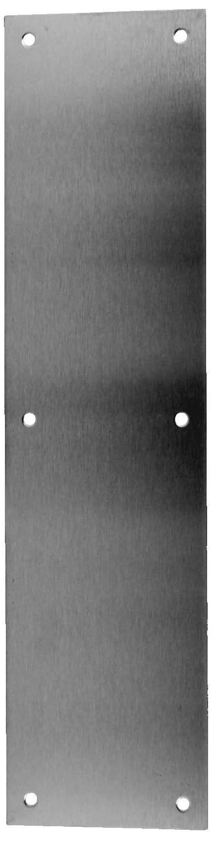 Don-Jo 72 Aluminum Four Beveled Edges Push Plate, Satin Anodized Aluminum Finish, 6'' Width x 16'' Height x 3/64'' Thick (Pack of 10)