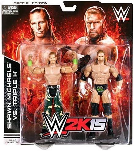 WWE - Pack de 2 figuras de bovinado de 2 K15 Shawn Michaels y triple H Battle Pack de 2. HN#GG_634T6344 G134548TY45098: Amazon.es: Juguetes y juegos
