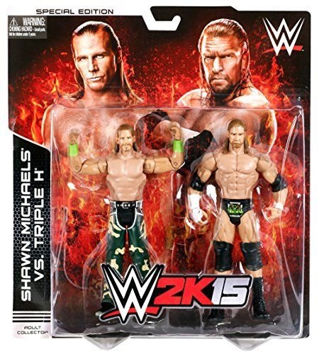 (WWE 2K15 Shawn Michaels and Triple H Battle Pack Figure 2-Pack .HN#GG_634T6344 G134548TY45098)