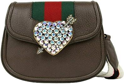 Gucci 500756 2594 - Bolso bandolera para mujer (piel), diseño de corazón, color marrón: Amazon.es: Zapatos y complementos
