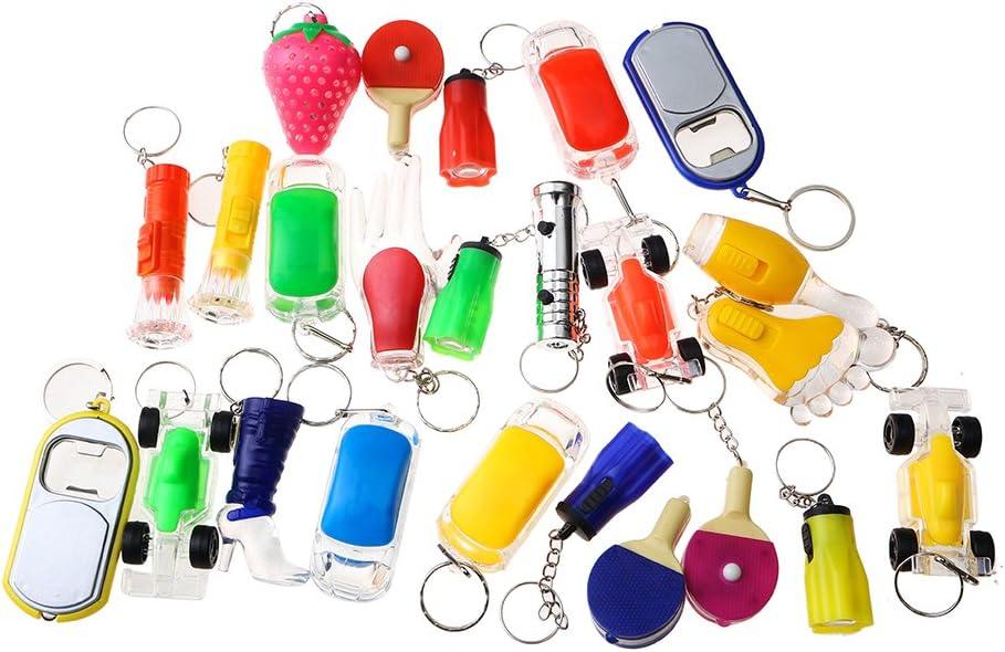 Beyond Dreams® Conjunto de 13 lámparas Mini Bolsillos | LED Llaveros para niños | Mini lámpara con luz Intermitente | Brillante | Multicolor | Diferentes Modelos | Lámparas de Bolsillo con Llavero