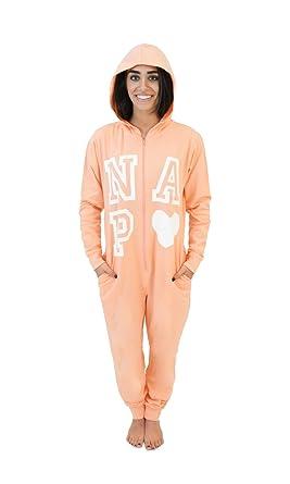 Cotton Knit Women's Hooded Onesie Pajamas