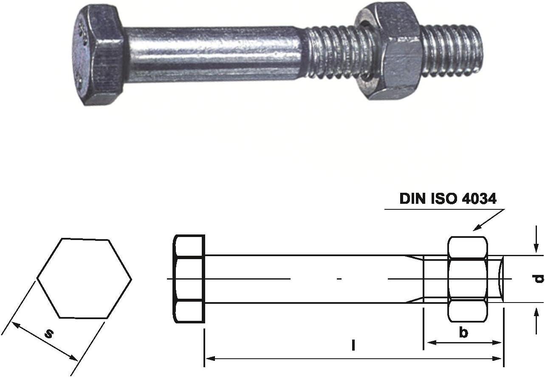 Dresselhaus 0//0024//001//16,0//460// //01 Bauschrauben /ähnlich DIN 601 Vollschaft Mu galv 25 St/ück M 16 x 460 verzinkt