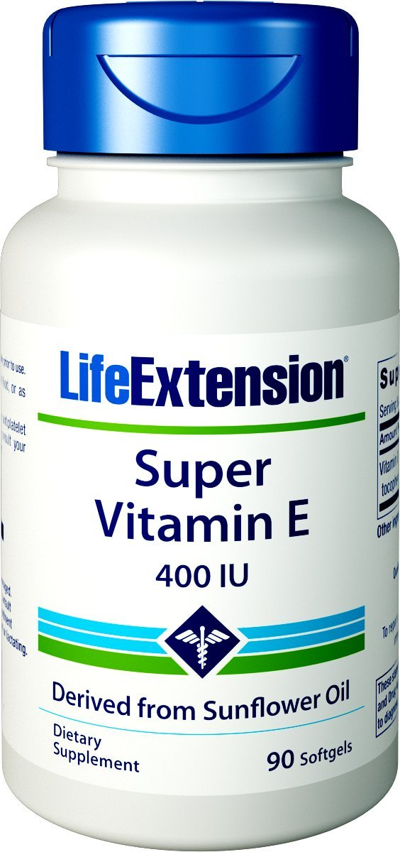 Life Extension Super Vitamin E 400 IU, 90 Softgel by Life Extension