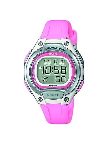 Casio Reloj Digital para Mujer de Cuarzo con Correa en Plástico LW-203-4AVEF: Amazon.es: Relojes