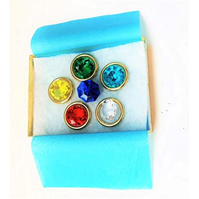 Kidz - Sonic - 6 Chaos Emeralds and 5 Power Rings: Toys & Games