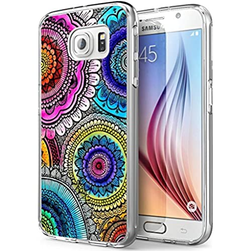 S7 Active Floral,Gifun Soft Clear TPU [Anti-Slide] and [Drop Protection] Protective Case Cover for Samsung Galaxy S7 Active W Colorful Round Floral Pattern Sales