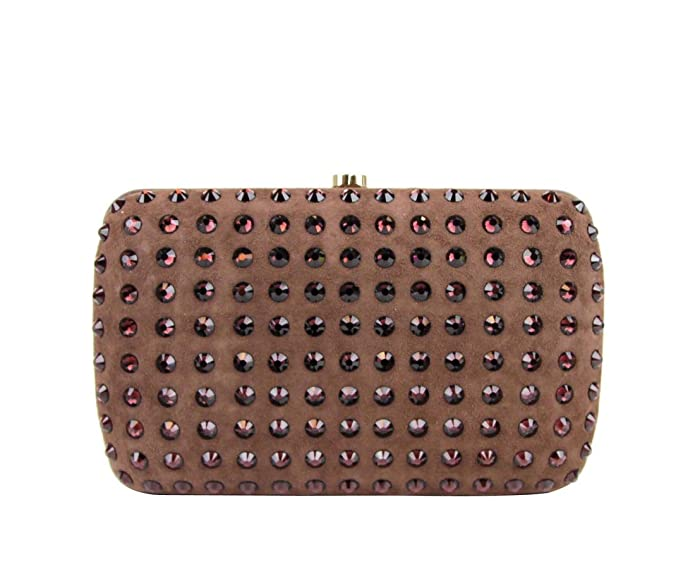 413433420 Amazon.com: Gucci Women's Brown Suede Broadway Crystal Evening Clutch Bag  310005 5471: Shoes