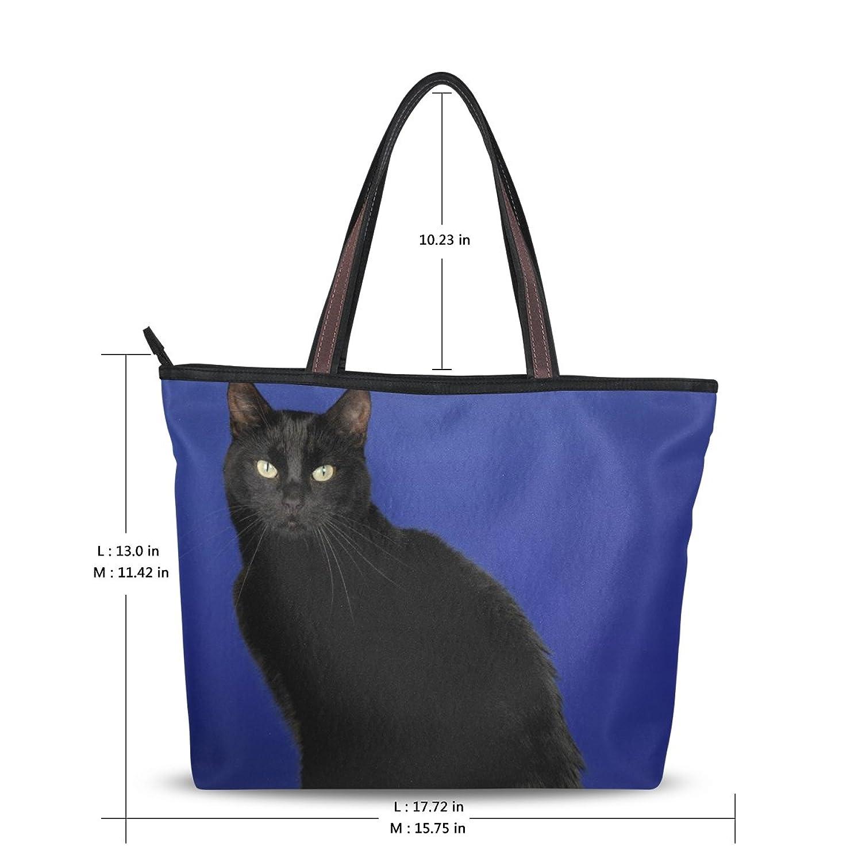 Women's School Large Handbag Shoulder Bags,Cute Cartoon Cat,Tote Bag Design11