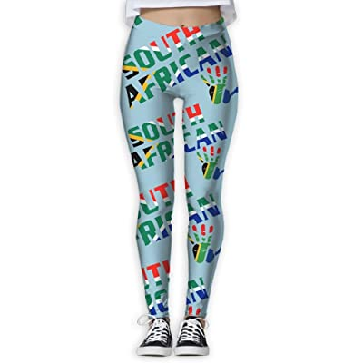 JCOE Yoga South African Printed Women's Stretchy Workout Running Yoga Pants Leggings Trousers