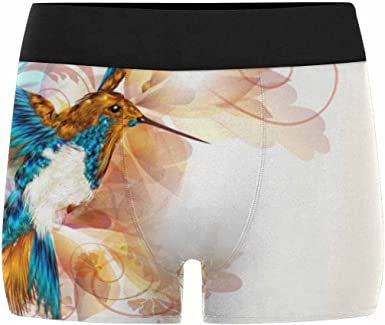 INTERESTPRINT Custom Mens All-Over Print Boxer Briefs Hummingbird XS-3XL