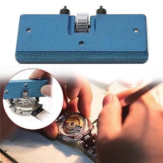 Kit de herramientas para abrir la carcasa trasera del reloj para cambiar la batería, destornillador, llave inglesa: Amazon.es: Relojes