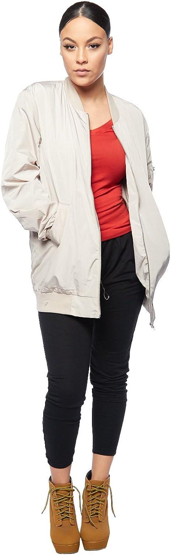 GENx Womens Long Lightweight Zip Up Parka Bomber Jacket J2003