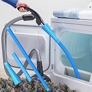 Dryer Vent Cleaner Kit Vacuum Hose Attachment Brush Lint Remover Power Washer and Dryer Vent Vacuum Hose(V1)