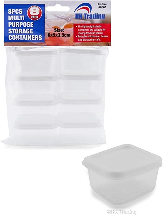 40 x 40 Cuadrado Mini plástico alimentos recipientes de ...