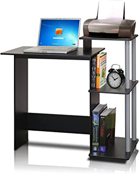 Furinno 11192BK/GY Efficient Computer Desk (Black/Grey)
