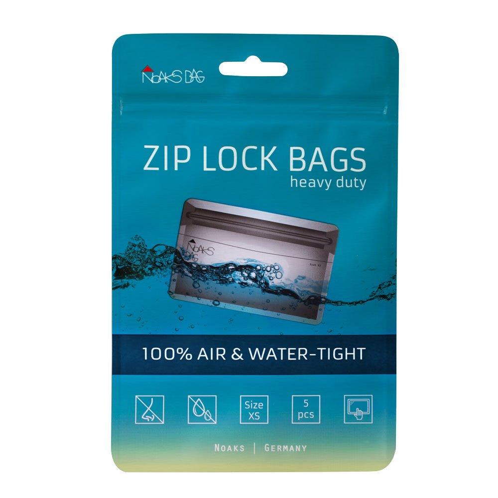 Noaks Bag XS | 5 exemplaires | Sac Étanche – Dry Bag – Poche Imperméable | 100% Imperméable à 10 m - Étanche à l'Air - Étanche aux Odeurs NOAPY 60.01.001