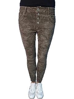 Lexxury Baggy Boyfriend Damen Stretch Hose Jeans offene