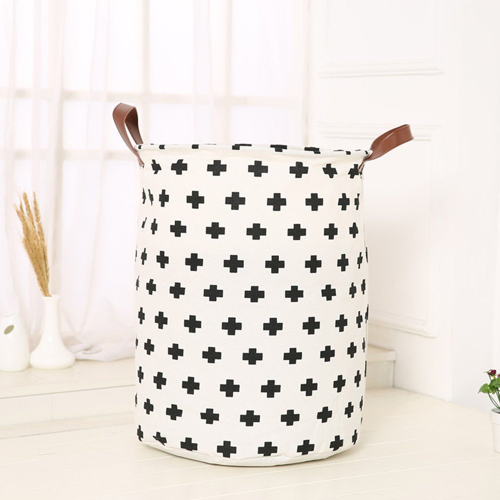 Unique Foldable Linen Cartoon Washing Clothes Laundry Basket Bag Hamper Storage by BERTERI (Image #1)