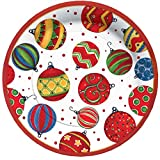 C.R. Gibson 8 Count Paper Dessert Plates, 8-Inch, Ornaments