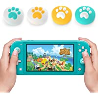 Joystick Cap for Nintendo Switch & Switch Lite, Thumb Grips Analog Stick Cover, Soft Silicone for Joy-Con Controller (Yellow&Turquoise)