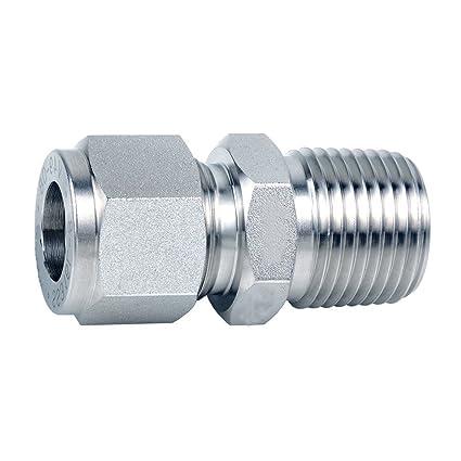 Amazon.com: OM Tubos accesorios de tubo conector macho 304 ...