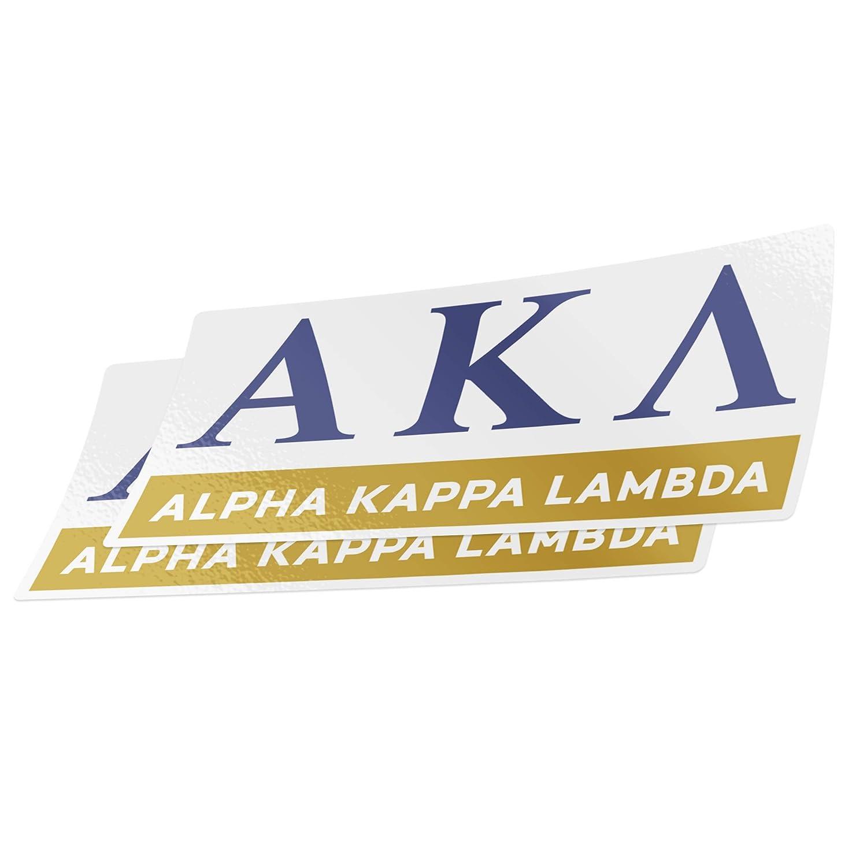 Desert Cactus Alpha Kappa Lambda 2-Pack Color Letter//Name Sticker Decal Greek for Window Laptop Computer Car AKL Color//Letter Name Sticker