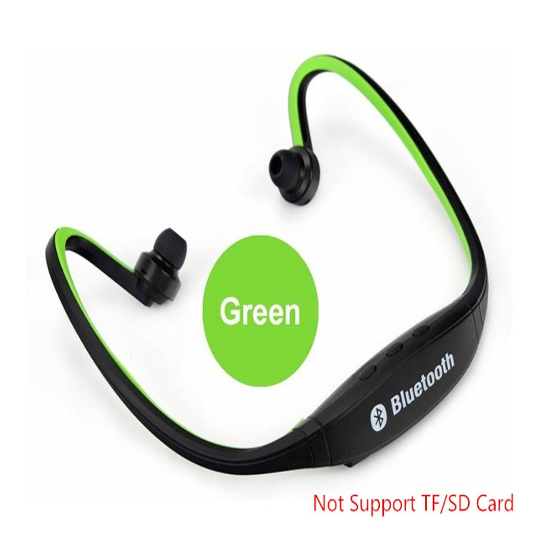 スポーツ Bluetooth イヤホン S9 ワイヤレス スポーツ Bluetooth ヘッドフォン S9 TF LG/SD カードマイクサポート iPhone Huawei LG ZTE Phone用 (グリーン) B07DJQ479C, 絹屋(きぬや):a89c189e --- gamenavi.club