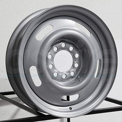 Amazoncom 15 Inch 15x10 Vision Rally Silver Wheel Rim Dual