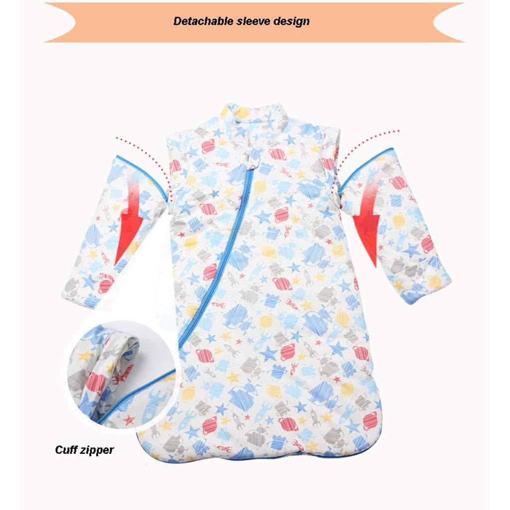 Gigoteuse pour b/éb/é Sac de couchage for b/éb/é amovible en coton /à manches gigoteuse hiver b/éb/é nouveau-n/é b/éb/é gar/çon fille for 0-4 ans peut /être utilis/é comme couvert