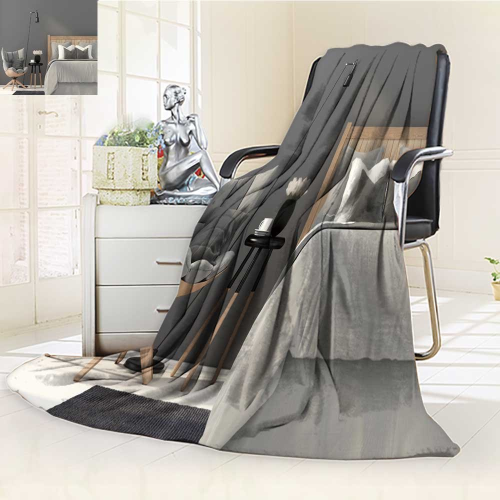 SCOCICI1588 Luminous Microfiber Throw Blanket d illustration the interior of gray bedroom with a wooden chair and a bed Glow In The Dark Constellation Blanket, Soft And Durable Polyester(60''x 50'')