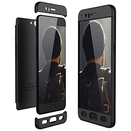 buy online 6ebc1 e00e3 Case Compatible with OnePlus 5 Case 3 in 1 Smooth Hard PC Bumper OnePlus 5T  Protection (Black, OnePlus 5)