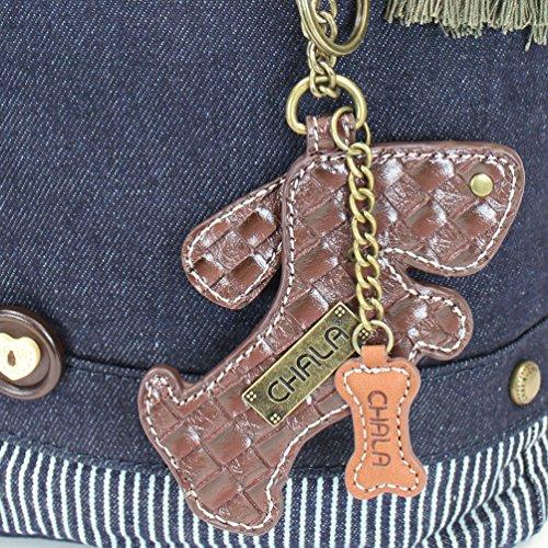 Canvas Handbag Prints Washed Blue Zipper Top Chala Crossbody Patch Animal yIt1q4c
