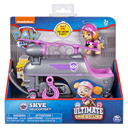 Paw Patrol Ultimate Rescue, Skye's Ultimate Rescue Helicopter with Moving Propellers & Rescue Hook, for Ages 3 & Up