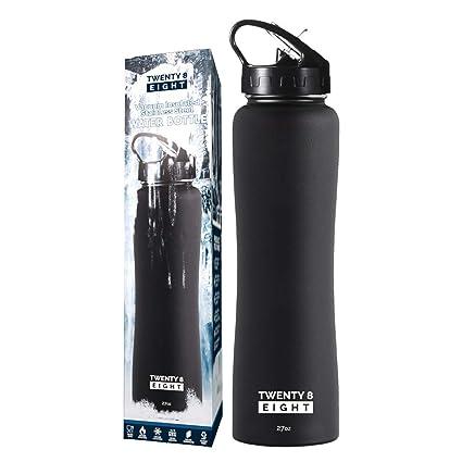 Amazon.com: Botella de agua aislada – Botella de acero ...