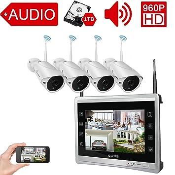 Amazon.com : [Audio & Video] Luowice 4CH Wireless Home Security ...