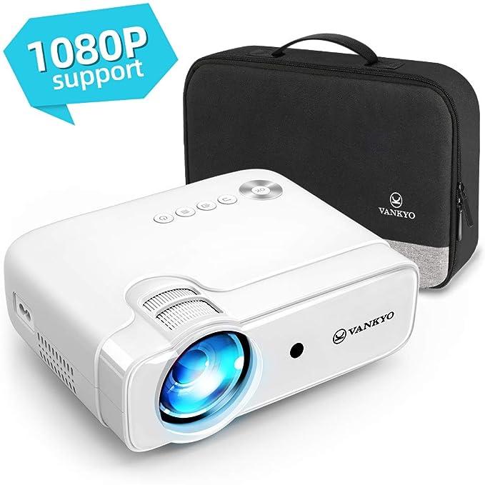 VANKYO Leisure 430 - Mini proyector, 4500 lúmenes con Pantalla de 236 Pulgadas, Compatible con 1080P, HiFi Speaker, Compatible con TV Stick, HDMI, SD, AV, VGA, USB, Smartphone Android iOS
