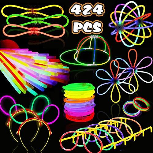Bulk Glow Stick Necklaces and Bracelets -Go Party Glow Sticks Party Pack 424 Glow Stick Bracelets & Fun Light Up Toys! -