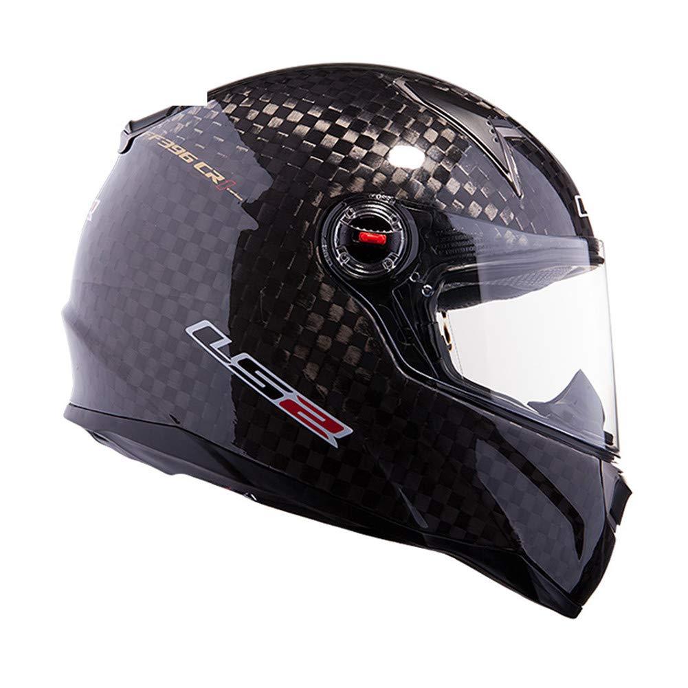 LS2 12K Casco de moto de fibra de carbono CR-2 CT-1 con sistema de airbag