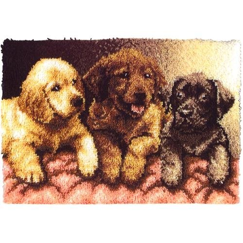 Latch Hook Kit - Lab Puppies - 24x34 by Caron