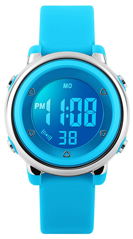 RSVOM Digital Relojes para niños niñas, niños 5 ATM Resistente al Agua Reloj Deportivo con Fecha/Alarma/Cronógrafo/7 LED Muestra, para Deportes al ...