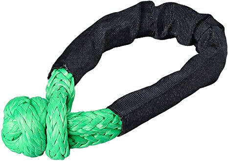 2pack Synthetic Soft Shackle Rope Yellow 38,000 lbs Breaking Strength 1//2/'/' x 7/'/' WLL 15,000 Winch Towing Rope with Protective Sleeve for Truck ATV UTV SUV 4X4