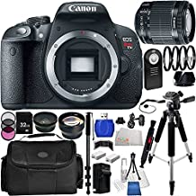 Canon EOS Rebel T5i (700D) DSLR Camera Kit with Canon EF-S 18-55mm f/3.5-5.6 IS STM Lens. Includes Wide Angle & Telephoto Lenses, 3 Piece Filter Kit(UV-CPL-FLD), 4 Piece Macro Filter Set(+1,+2,+4,+10), 32GB Memory Card & Much More