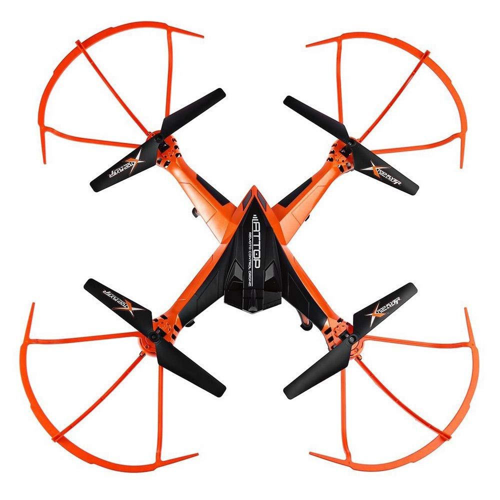 ZNHL Drone super large four-axis remote control aircraft automatic fixed high-altitude aircraft model aircraft one-button landing aircraft,Orange