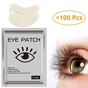 8b788f324e0 Amazon.com: ifory 100 Pieces Upgrade Eye Gel Pads For Eyelash Extension,  Lint Free Patches with Aloe Vera and Hydrogel, Moisturizing Eye Pads: Beauty