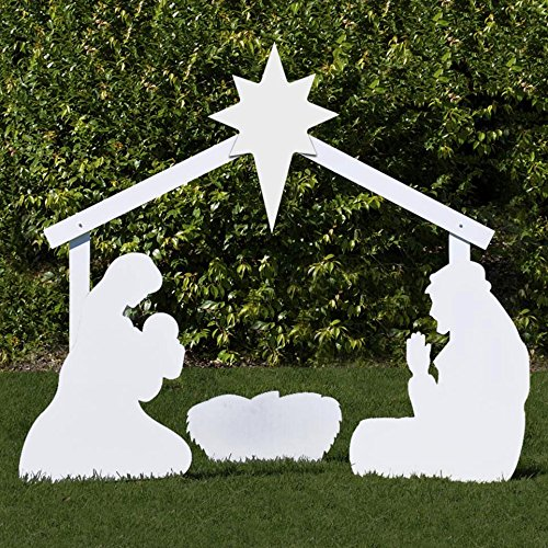 Outdoor Nativity Store Holy Family Outdoor Nativity Set (Life-size, White)