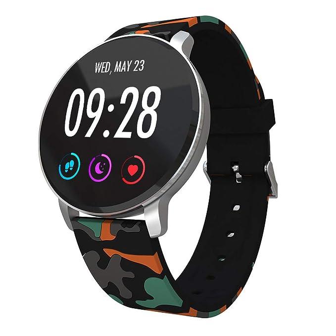 DAYLIN Reloj Pulsera Actividad Inteligente Hombre Mujer Negro Reloj Deportivo GPS Música Impermeable Smartwatch Fitness Tracker Monitor de Ritmo Cardíaco ...