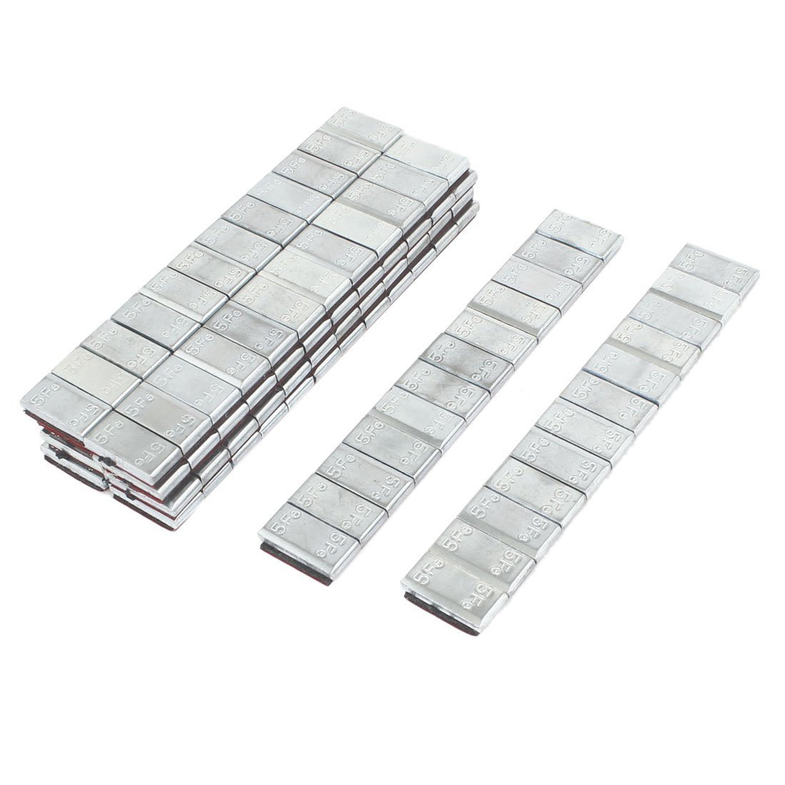 Wheel Balance Weight - TOOGOO(R) 10pcs Adhesive Back Metal Tire Wheel Balance Weight Strip for Car SPHAGT57381