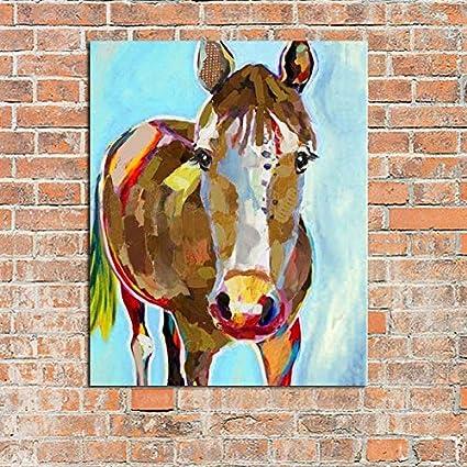CHASOE Arte Abstracto Moderno Pintado A Mano Cuadro Decorativo del Caballo Pintura Al Óleo sobre Lienzo Arte De La Pared Animal para Sala De Estar