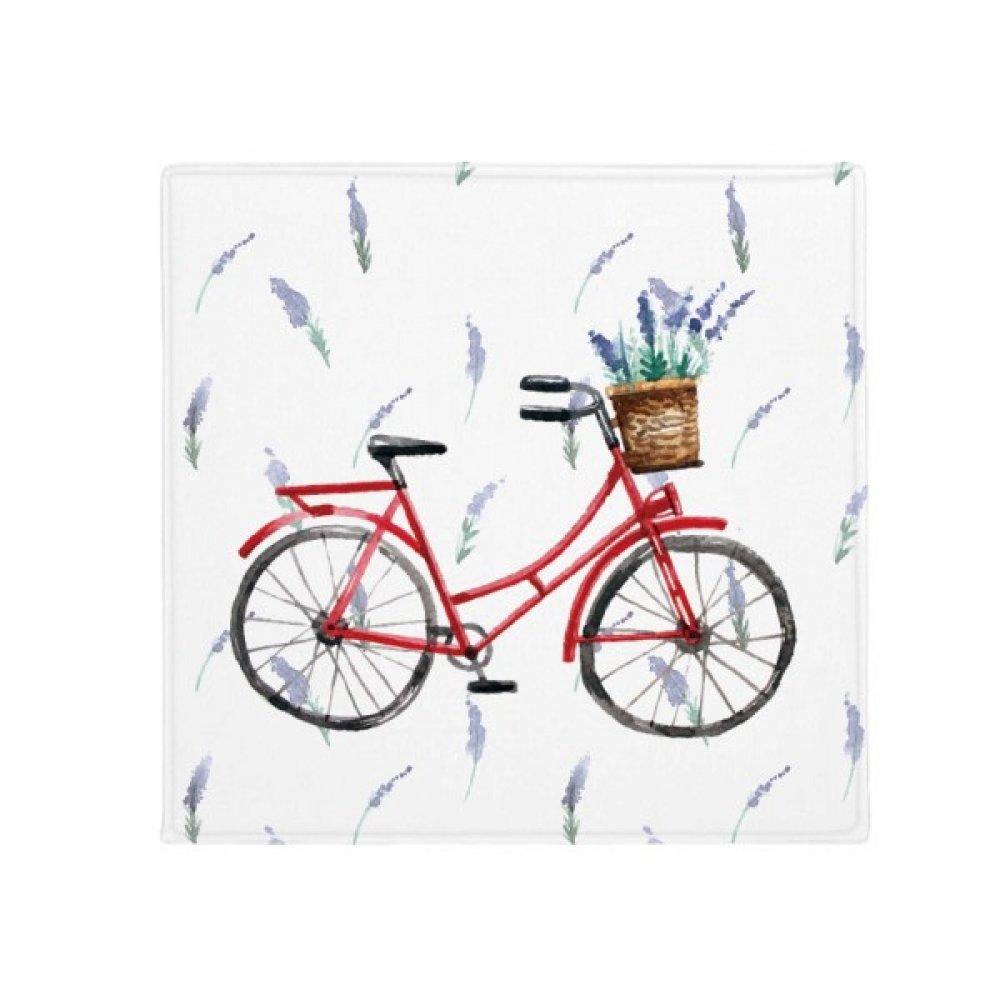 DIYthinker Watercolor Bicycle Lavender Flower Anti-Slip Floor Pet Mat Square Home Kitchen Door 80Cm Gift